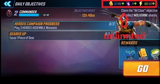 Download MARVEL Strike Force (MOD, Unlimited Energy / Mega) 3.10.0 free on Android 4