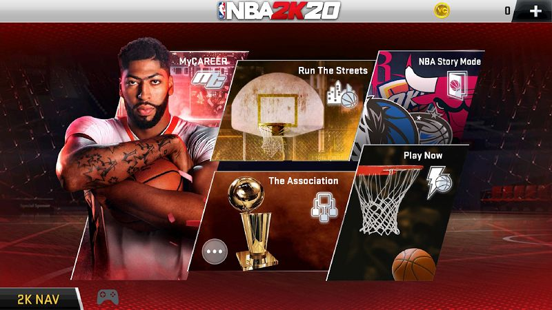 Download NBA 2K20 Mod Apk 96.0.1 free on mobile android 8