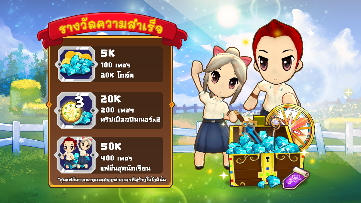 PaKaPow: Friendship Never Ends Return is open for pre-registration and free school uniform skins for 1.